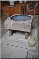 TQ9947 : Font, St Mary's church, Westwell by Julian P Guffogg