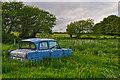 SS8821 : Mid Devon : Grassy Field & Vehicle by Lewis Clarke