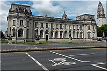 ST1876 : Law Courts, Cardiff by Jaggery