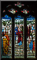 SK8091 : Stained glass window, St Paul's church, Morton by J.Hannan-Briggs