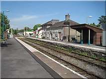 SN7634 : Llandovery railway station, Carmarthenshire by Nigel Thompson