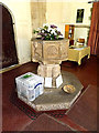 TM0974 : Font of St.Mary the Virgin Church by Adrian Cable