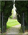 SU1057 : Entrance gate, St Nicholas Church, Wilsford by Christine Johnstone
