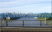 NZ2463 : View from King Edward Bridge over the River Tyne by Russel Wills