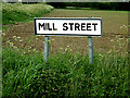 TM0571 : Mill Street sign by Adrian Cable