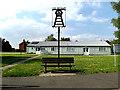 TM0771 : Gislingham Village Hall & Village sign by Geographer