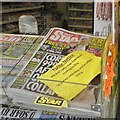 SJ9494 : Newsagent's Polite Notice by Gerald England