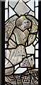 TQ9947 : Medieval stained glass, St Mary's church, Westwell by Julian P Guffogg