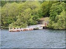 SD3898 : Belle Grange Bay, Floating Jetty at Bark Barn by David Dixon