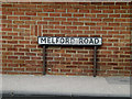 TL8642 : Melford Road sign by Adrian Cable