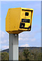 NT5831 : A fire-damaged speed camera on the A68 by Walter Baxter