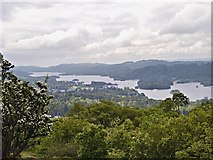 SD4199 : South Windermere from Orrest Head by David Dixon