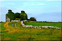 M3811 : County Galway - Derelict Structure along N67, northeast of Dunguaire Castle by Joseph Mischyshyn