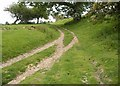 TQ8921 : Meeting of tracks, High Weald Landscape Trail by Christopher Hall