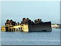 ND4899 : Crane pontoon sunk as a block ship in 1944 by John Lucas