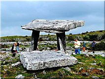M2300 : County Clare - Poulnabrone Dolmen (3500 BC) - View to Northeast by Suzanne Mischyshyn