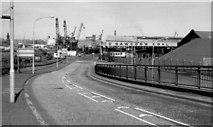 J3474 : Station Street/Bridge End flyover, Belfast (April 1991) by Albert Bridge