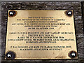 TL8248 : Plaque on Glemsford Village sign by Adrian Cable