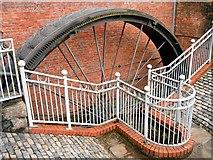 SJ9398 : Waterwheel at Portland Basin Museum by David Dixon