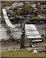 NG5018 : The old suspension bridge, Camasunary by Ian Taylor