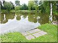 SJ3475 : Fishing lake, Inglewwod Manor by Oliver Dixon