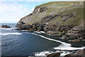 G5186 : Glen Head from Skelpoonagh Bay by Anne Burgess