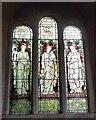 SU9298 : St John the Baptist -  Faith, Hope and Charity window by Rob Farrow