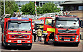 J3474 : Fire appliances and ambulances, Donegall Quay, Belfast - June 2014(3) by Albert Bridge