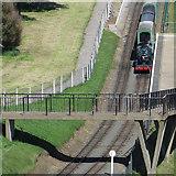 TA0390 : Footbridge over the miniature railway by Pauline E
