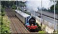J3775 : Steam locomotive no 85, Sydenham, Belfast (June 2014) by Albert Bridge