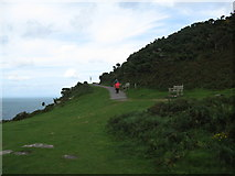 SS7049 : Rest at the foot of Jack-Lynton, North Devon by Martin Richard Phelan