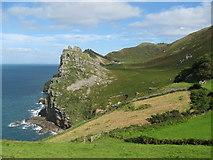 SS7049 : East to Castle Rock-Lynton, North Devon by Martin Richard Phelan