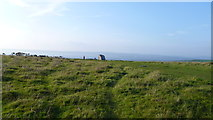 SS4990 : Approaching Arthur's Stone / Maen Ceti on Cefn Bryn, Gower by Jeremy Bolwell
