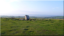 SS4990 : Maen Ceti / Arthur's Stone on Cefn Bryn, Gower by Jeremy Bolwell