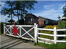 TQ8833 : The level crossing at Tenterden Town station by Marathon