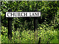TM3780 : Church Lane sign by Adrian Cable