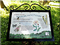 TM3780 : St.Peter's Church Wildlife Sanctuary sign by Adrian Cable