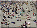 SW8031 : People on Gyllyngvase Beach Falmouth by Rod Allday