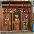 SP8104 : Monks Risborough - St Dunstan's - Painted screen (left) by Rob Farrow