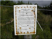 G9428 : Leitrim County Council Site Notice by Kenneth  Allen