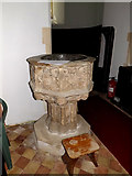 TM4077 : Font of St.Peter's Church by Adrian Cable