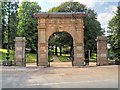 SD5817 : War Memorial Gateway to Astley Park, Chorley by David Dixon