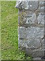 SK7160 : Bench mark, St Radegund's Church, Maplebeck by Alan Murray-Rust