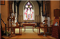 TQ2792 : St James the Great, Friern Barnet Lane, now St Katherine's Greek Orthodox Church - Chancel by John Salmon