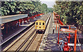 TQ3372 : Sydenham Hill Station, with local EMU from London 1989 by Ben Brooksbank
