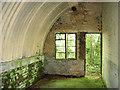 TG0714 : WW2  Asbestos hut in Hockering Wood - interior by Evelyn Simak