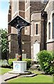 TQ2487 : Holy Cross & St Michael, Golders Green Road - Calvary by John Salmon