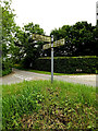 TM0959 : Roadsign on Chapple Lane by Adrian Cable