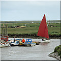 TG0044 : Red sails up Morston Creek by Pauline E