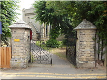 TM0221 : St Lawrence Church, East Donyland entrance by Hamish Griffin